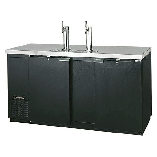 """Continental Refrigerator Draft Beer Dispenser 69"""" 3 Keg Capacity Black Finish KC69"""