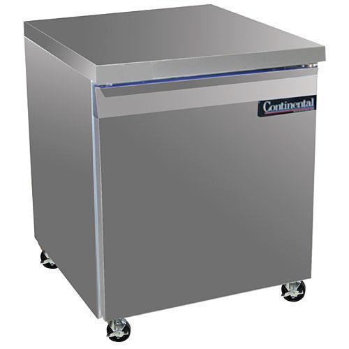 "Continental Refrigerator Standard Line 27"" Worktop Refrigerator- 1 section SW27"