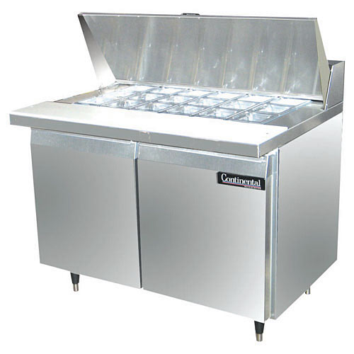 "Continental Refrigerator Standard Line 48"" Mighty-Top Sandwich Refrigerator Unit - 2 section SW48-18M"