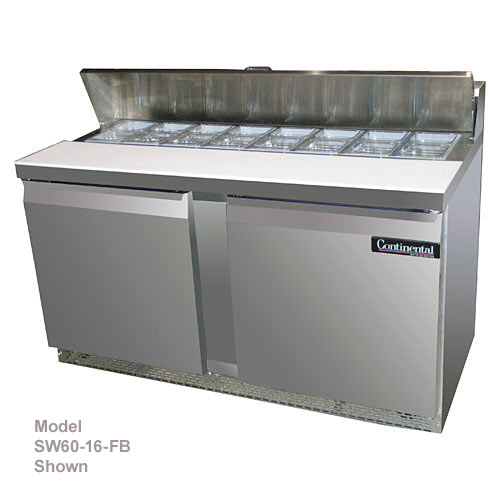 "Continental Refrigerator Standard Line 60"" Sandwich Refrigerator Unit - 2 section SW60-16"