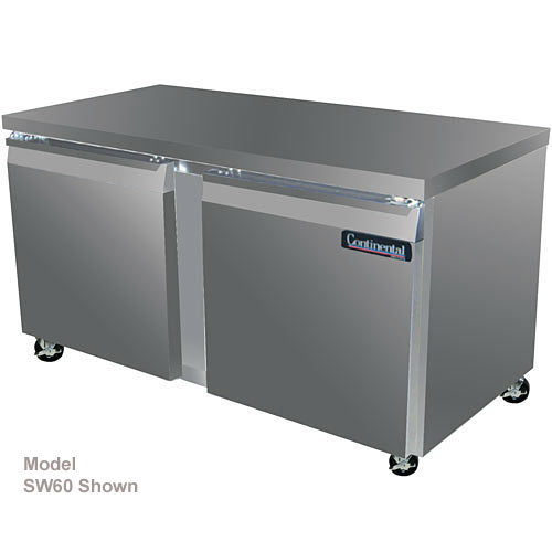 "Continental Refrigerator Standard Line 60"" Worktop Refrigerator w/ 4 Drawers - 2 section SW60-D"