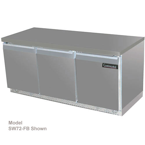 "Continental Refrigerator Standard Line 72"" Worktop Refrigerator w/ 6 Drawers - 3 section SW72-D"