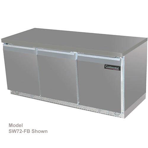 "Continental Refrigerator Standard Line 72"" Worktop Refrigerator - 3 section SW72"