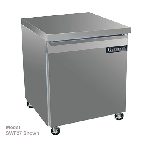"Continental Refrigerator Standard Line 27"" Worktop Freezers w/ 2 Drawers- 1 section SWF27-D"