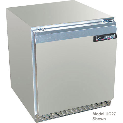 "Continental Refrigerator Standard Line 27"" Undercounter Refrigerator w/ 2 Drawers - 1 section UC27-D"