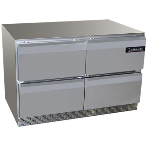"Continental Refrigerator Standard Line 48"" Undercounter Refrigerator w/ 4 Drawers - 2 section UC48-D"