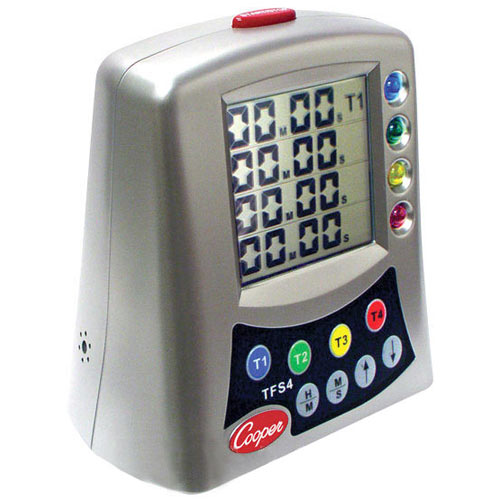 Restaurant Kitchen Timers buy cooper atkins tfs4-0-8 multi-station digital timer at kirby