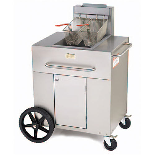 "Crown Verity Gas Outdoor Portable Fryer - 38"" Single Tank PF-1LP"