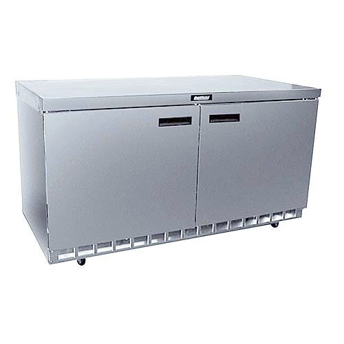 "Delfield 60"" Worktop Refrigerator- 2 Section 4460N"