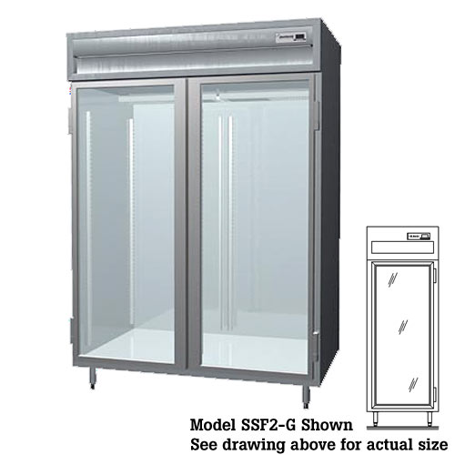 Delfield Glass Door Reach-In Freezer - 1 Section SSF1-G