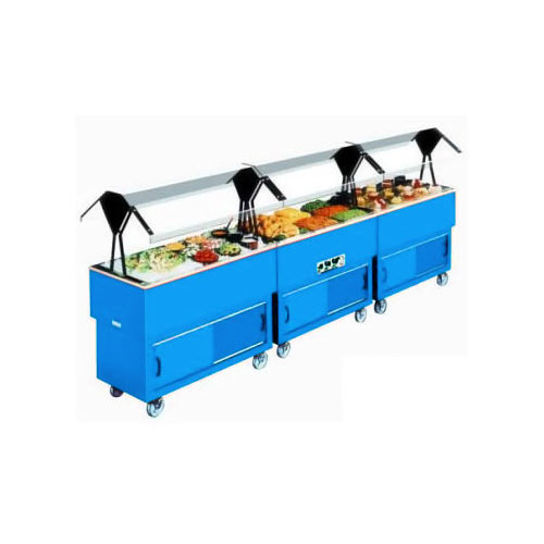 Duke EconoMate Cold Food Pan Portable Buffet, 4 Sections DPAH-4-CP