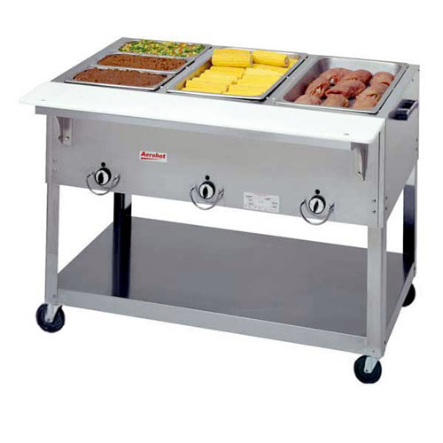 Duke Aerohot Electric Steamtable - 3 Sealed Wells, Portable EP303SW