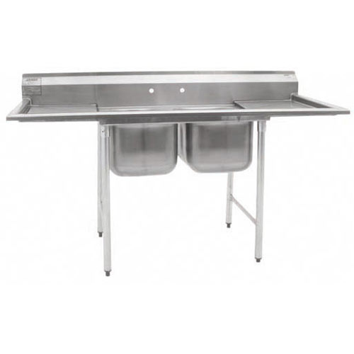"Eagle 2-Compartment Sinks 16""- Double Drainboard 414-16-2-18"