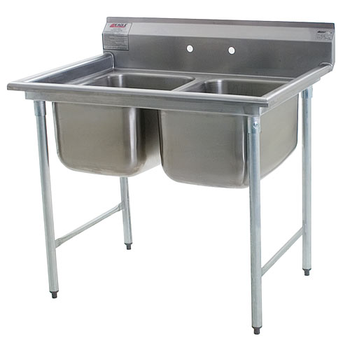 "Eagle 2-Compartment Sinks 16"" 414-16-2"
