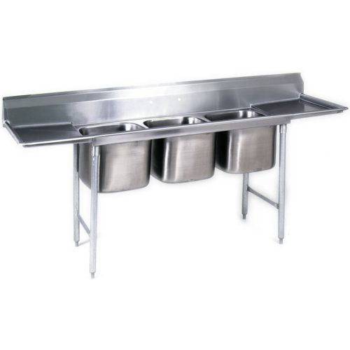 "Eagle 3-Compartment Sinks 24""- Double Drainboard 414-24-3-24"
