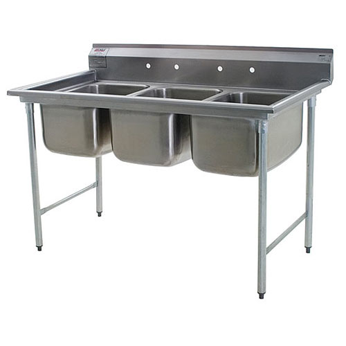 "Eagle 3-Compartment Sinks 22"" 414-22-3"
