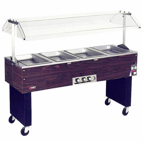 Eagle 4 Well Deluxe Service Mates Portable Hot Food Buffet BPDHT4-120