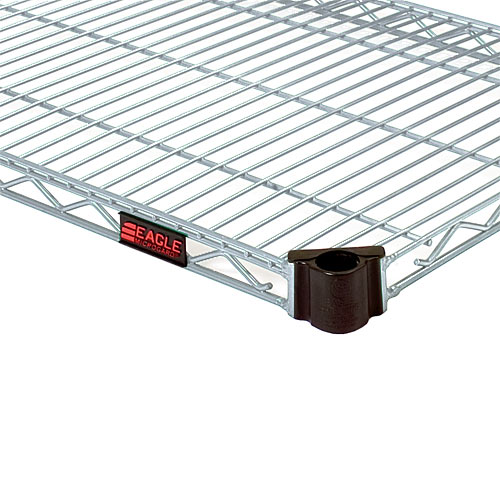 "Eagle Quad-AdjustTM Wire Shelving 60"" X 24"" Eaglebrite QA2460Z"