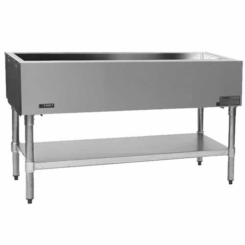 "Eagle Stationary Open Base Cold Pan Unit - 79"" CP-5"