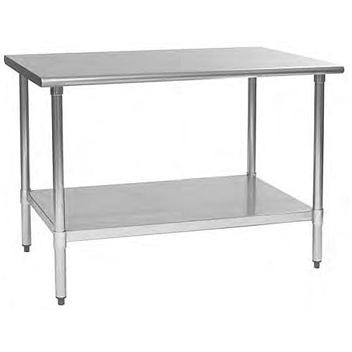 "Eagle S/S Flat Top Work Table w/ Galvanized Base - 30"" x 48""  T3048B"