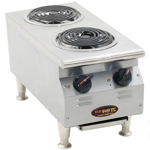 Eagle RedHots Chef's Line Electric Hot Plates w/ Warmer CLCW-120-2