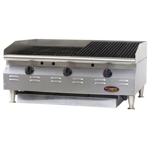 "Eagle Redhots Chef's Line Gas CharBroiler - 48""  CLCHRBL-48-NG"