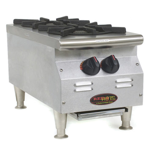 Eagle RedHots Chef's Line Gas Hot Plates - 2 Burners CLHP-2-NG
