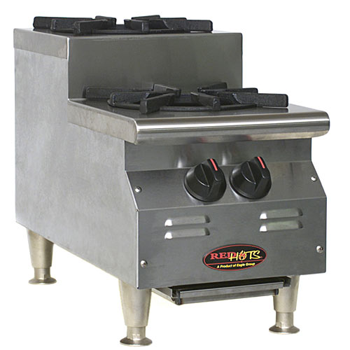 Eagle RedHots Chef's Line Gas Hot Plates - 2 Burners CLUHP-2-NG