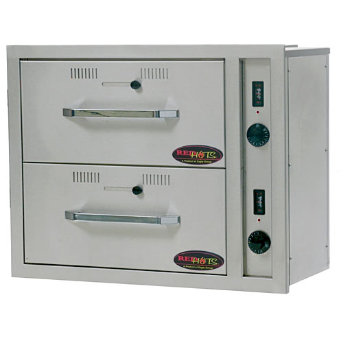 Eagle RedHots Built-In 2 Narrow Heated Drawers DWN-2BI-120