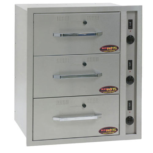 Eagle RedHots Built-In 3 Wide Heated Drawers DWW-3BI-120
