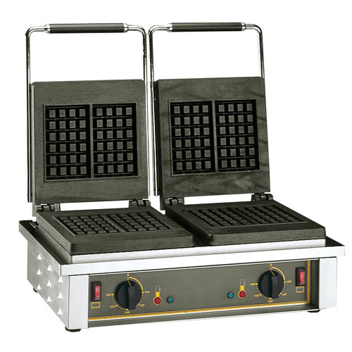 Equipex Sodir Twin Peaks Electric Waffle Baker, Double GED