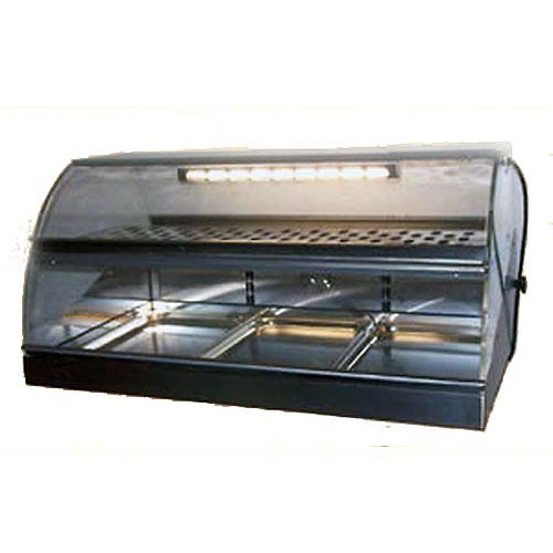 Equipex Sodir Countertop Heated Display Case w/ Curved Front VHC-1000
