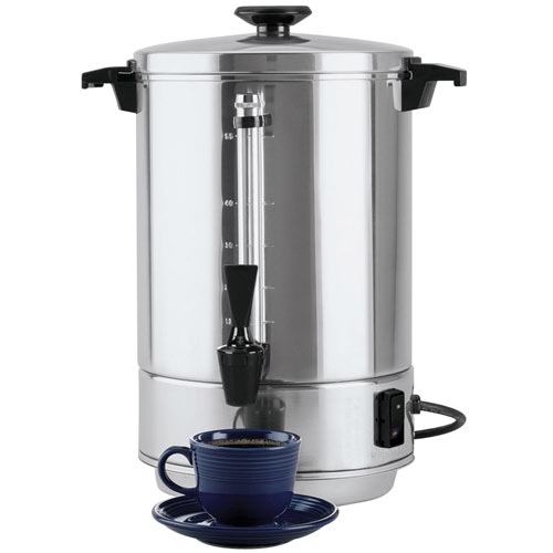 Focus Regal Ware Polished Aluminum Coffee Urn - 55 Cups  58055R