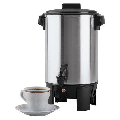 Focus Regal Ware Polished Aluminum Coffee Urn - 30 Cups  58230R