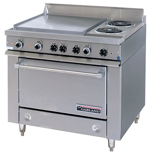 Garland E Series Heavy Duty Mixed Top Electric Range - 2 Burner w/ Oven 36ER32-3