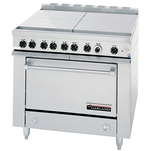 Garland E Series Heavy Duty 4 Boil Sections Top Electric Range - Storage Base 36ES35