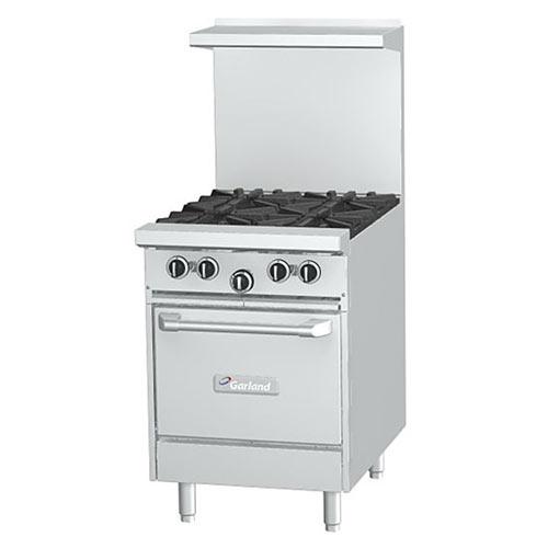 Garland Starfire Pro Restaurant Range 4 Burner Gas Range /w Oven G24-4L