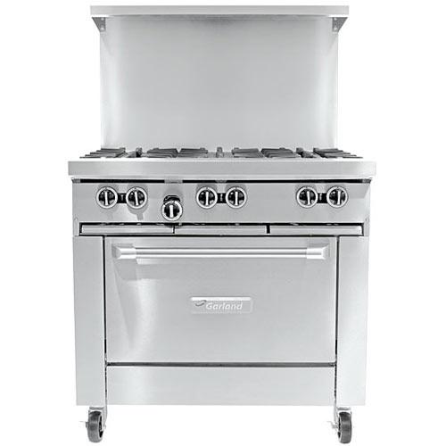 Garland Starfire Restaurant Range 6 Burner Gas Range w/ Standard Oven G36-6R