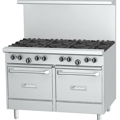 Garland Starfire Pro Restaurant Range 8 Burner Gas Range w/ 2 Ovens G48-8LL