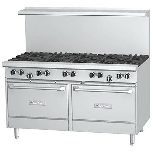 Garland Starfire Pro Restaurant Range 10 Burner Gas Range w/ 2 Ovens G60-10RR