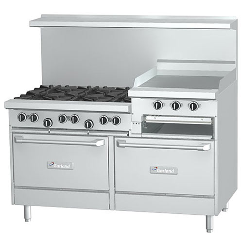 "Garland Starfire Pro Gas Restaurant Range - 6 Burners & 24"" Griddle G60-6R24RR"