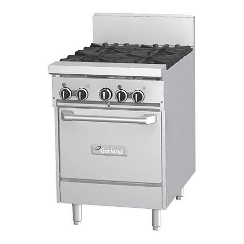 "Garland Starfire Pro 24"" Gas Restaurant Range - 4 Burners w/ Oven GF24-4L"