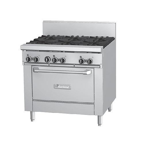 "Garland Starfire Pro 36"" Gas Restaurant Range - 6 Burners w/ Oven GF36-6R"