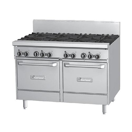 "Garland Starfire Pro 48"" Gas Restaurant Range - 8 Burners w/ 2 Ovens GF48-8LL"