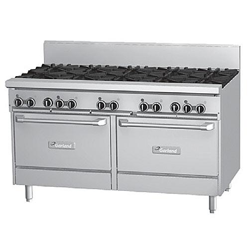 "Garland Starfire Pro 60"" Gas Restaurant Range 10 Burners w/ 2 Ovens GFE60-10RR"