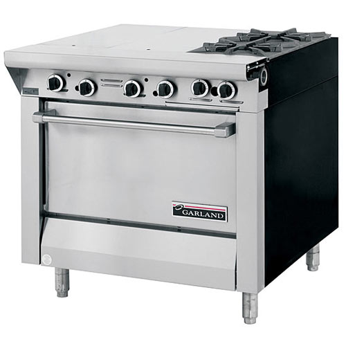 Garland Master Series Heavy Duty Mixed Top Gas Range 2 Burner & Even Heat Top M43-2R