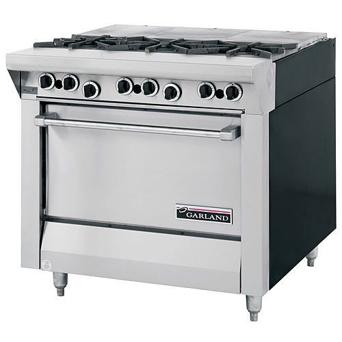 Garland Master Series Heavy Duty Mixed Top Gas Range - French Top &amp; 3 Burners M43FTS