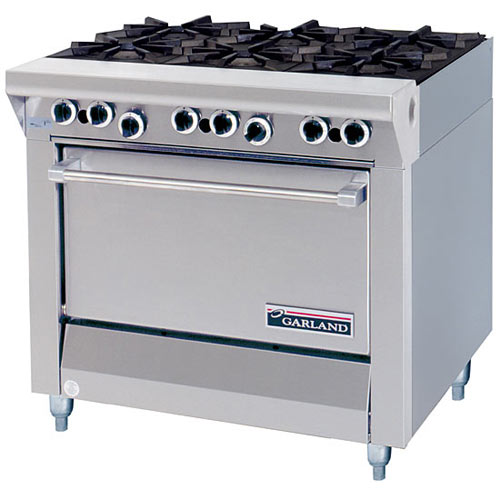 Garland Master Series Heavy Duty 6 Open Top Burners Gas Range w/ Storage Base M43S