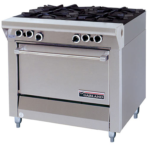 Garland Master Series Heavy Duty Ranges 4 Open Top Burners with Storage Base M44S