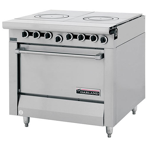 Garland Master Series Heavy Duty Front Fired Hot Top Gas Range - Storage Base M45S